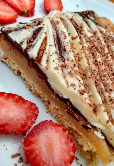Chocolate & Caramel Short Cake